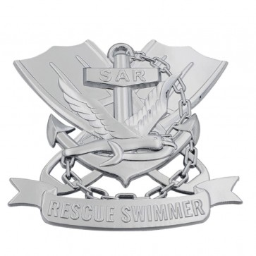 Navy Rescue Swimmer Auto Emblem